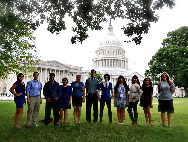 NAPLP students in front of the U.S. Capitol Building